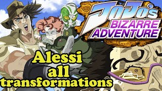 JoJo's Bizarre Adventure-Alessi all transformation Uncensored (cps3)