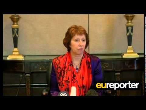 Catherine Ashton meeting with Mohamed Morsi
