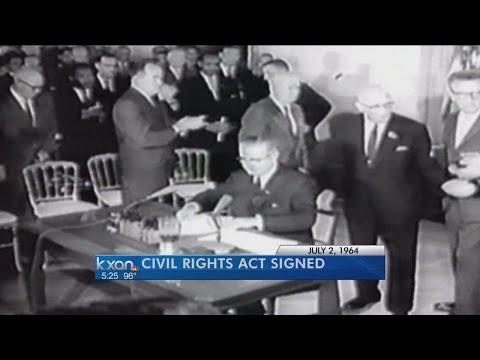 Civil Rights Act signing recreated via Twitter