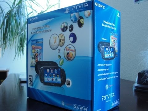 PS Vita First Edition Bundle Unboxing RELEASE DAY!