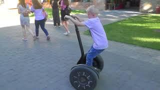 ВЛОГ Segway - тест-драйв от ребенка на электроскутере