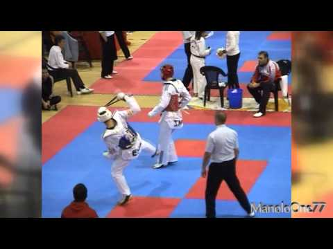 Taekwondo. Final -80 Kg Open Internacional de Espaa 2013, Nicols Garca vs Aaron Cook
