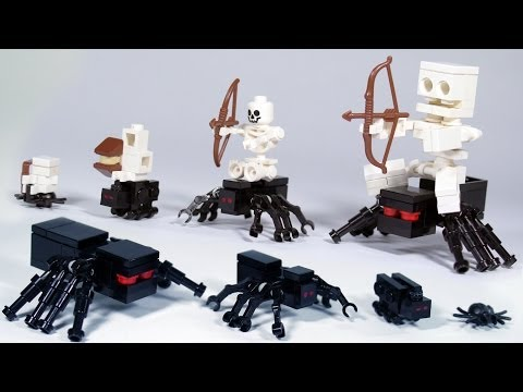 How To Build: LEGO Minecraft Spiders & Spider Jockey