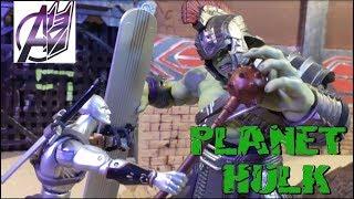 Planet Hulk- Hulk vs Thor [Stop Motion Film]