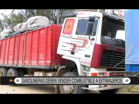 29/08/2014- 13:37 GASOLINERAS DEBEN VENDER COMBUSTIBLE A EXTRANJEROS