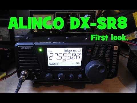 Alinco DX-SR8 First look & on air test.