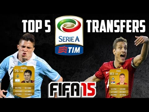 Vidic to Inter Milan | Top 5 Serie A Transfers | FIFA 15