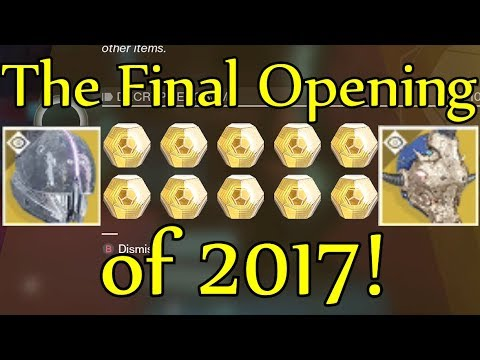 Destiny 2 - The Final Exotic Engram Opening of 2017! (Opening Fated Engram + 10 Exotic Engrams)