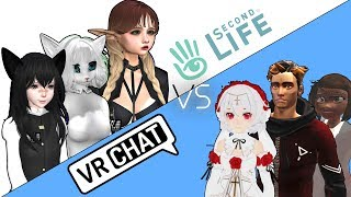 Second Life VS VRChat - What Are The Differences? [Video Infographics]