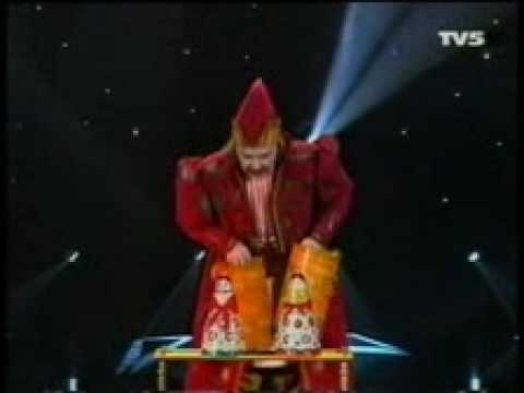 Valeriy Bastrakov with folklor magic act RUSSIAN SOUVENIR on TV Show LE GRAND CABARE DU MONDE 2001