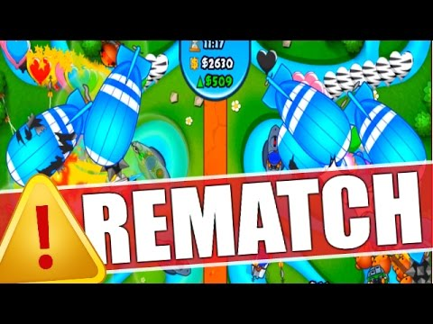 MOST EPIC BATTLE EVER! 3 RE-MATCHES! - Bloons TD Battles - BTD Battles Gambling Medallions!