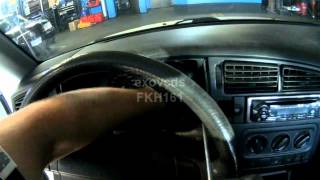 VW A3: Instrument Cluster Removing