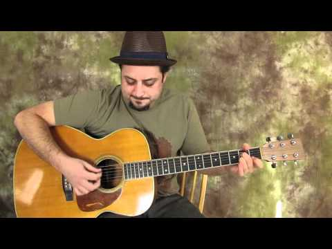 Acoustic Blues Guitar Lessons - Blues Jamtrack in E to practice guitar solos