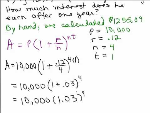 Simple Amp Compound Interest Part B Youtube