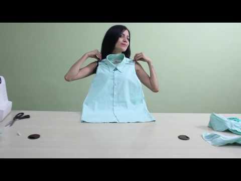 Женская рубашка из мужской (Turn a man's shirt into a woman's shirt)