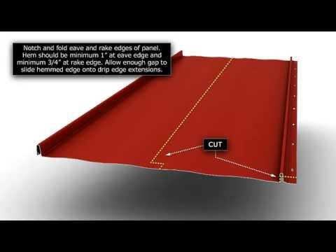 How to Install Standing Seam Metal Roofing - Hemmed Eave and Rake.