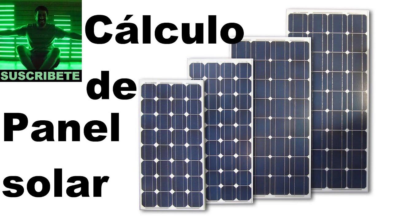 Calculo de paneles solares fotovoltaicos online 96