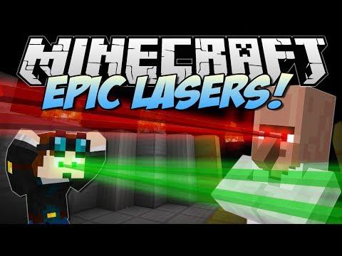 Minecraft EPIC LASERS Burn Push Harm and Loads More Mod Showcase