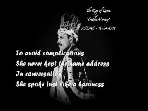 Queen - Killer Queen (Lyrics)