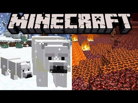 Minecraft 1.10 News: Polar Bear Mob! Taiga Village, Cherry Blossom, Magma Block, 1.9.3 Snapshot
