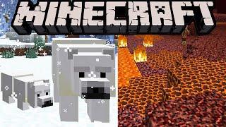 Minecraft 1.10 News: Polar Bear Mob! Taiga Village, Cherry Blossom, Lava Netherrack, 1.9.3 Snapshot