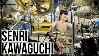 川口千里 (Senri Kawaguchi) - Zildjianシンバル工場にて行われたソロパフォーマンス映像を公開 thm Music info Clip