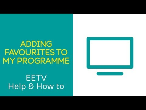 EE TV – Adding favourites to My Programmes