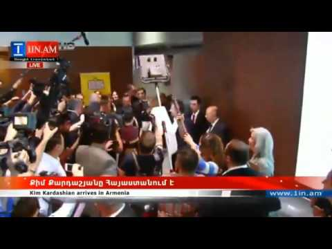 Kim Kardashian Arrives in Armenia April 8th 2015