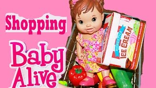 Baby Alive Doll Goes Shopping At Children