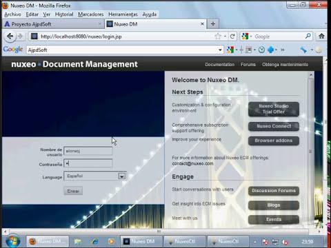 Instalar Nuxeo, gestor documental gratuito en Windows 7
