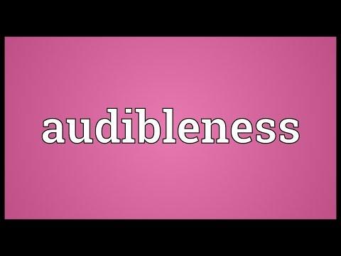 Header of audibleness