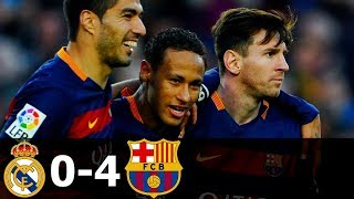 Real Madrid vs FC Barcelona 0-4 Goals and Highlights with English Commentary 2015-16 HD 720p