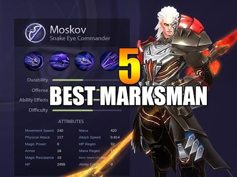 TOP 5 MARKSMAN - Mobile Legends - 1000 Diamonds Giveaway - Tips - Guide - ADC