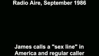 James Whale - USA sex call & Umberto (Radio Aire, Sept 1986)