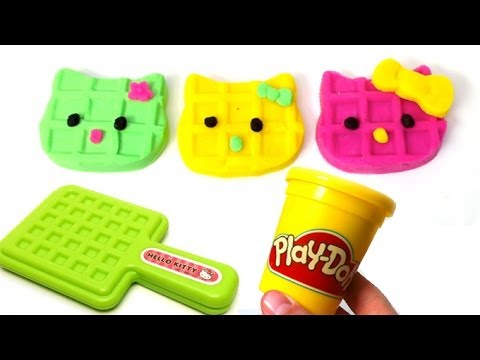 Play Doh Hello Kitty How to make Playdough Sanrio Playdoh Toy by Unboxingsurpriseegg