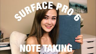 SURFACE PRO 6 NOTE TAKING 2019 | ONE NOTE