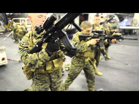 Marines Conduct Weapons Training aboard USS Bataan (LHD 5)