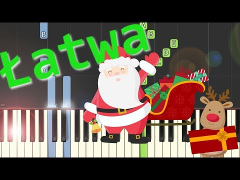 Pada śnieg (Dzwonki Sań, Jingle Bells) - łatwa Synthesia