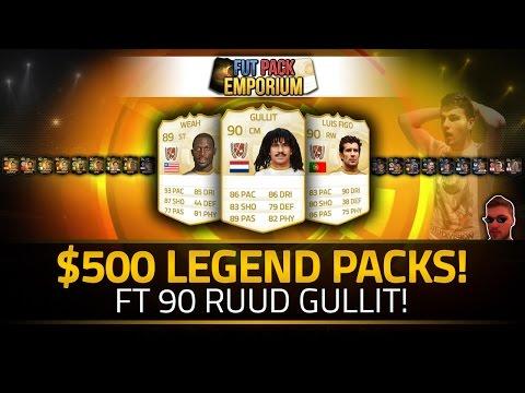 FIFA 15 | $500 LEGEND PACKS!!! RUUD GULLIT & Other Legends! FUT Pack Emporium Packs!