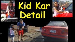 A KID DETAILING A CAR ~ DIY HELP TEACHING WORK ETHIC ~ FUN JOB