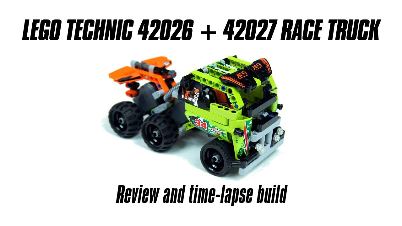 lego technic 42026 42027 race truck build review youtube. Black Bedroom Furniture Sets. Home Design Ideas