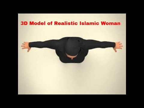 3D Model of Realistic Islamic Woman