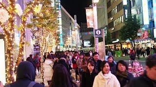 TOKYO?Christmas Lights?Shinjuku station - Part 2. Around East Entrance. #4K #???????