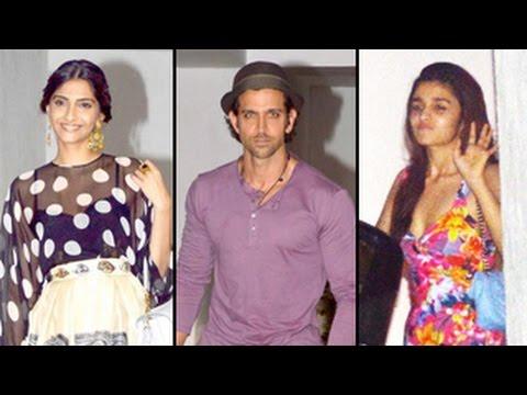 Hrithik Roshan, Sonam Kapoor, Jacqueline Fernandez ATTEND Karan Johar's BASH