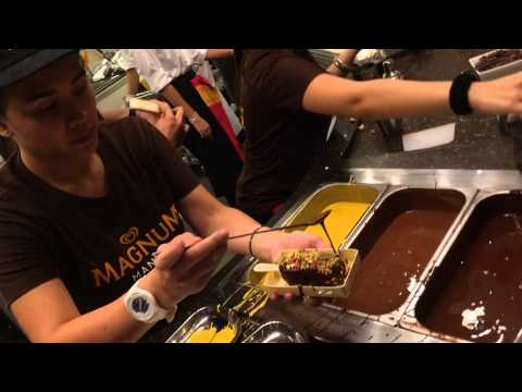 New Magnum Cafe SM Aura Skypark Bonifacio Global City Taguig Manila. Customize your Magnum Ice Cream Bar with 3 toppings at the Magnum Cafe at SM Aura Skypark. Thank you for watching. ...