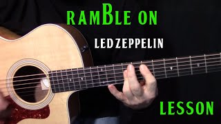 """how to play """"Ramble On"""" by Led Zeppelin - acoustic guitar lesson"""