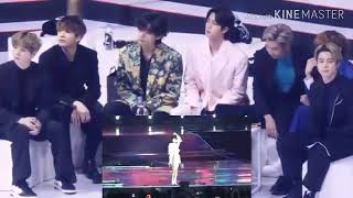 BTS REACTION TO TWICE FANCY AT GDA 2020 LIVE