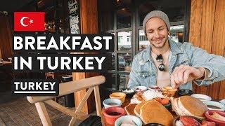 WE'RE IN TURKEY! Turkish Breakfast in Kadikoy   Istanbul Food & Travel Vlog