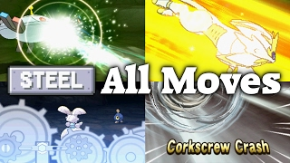 Pokémon Sun & Moon - All 24 Steel-type Moves