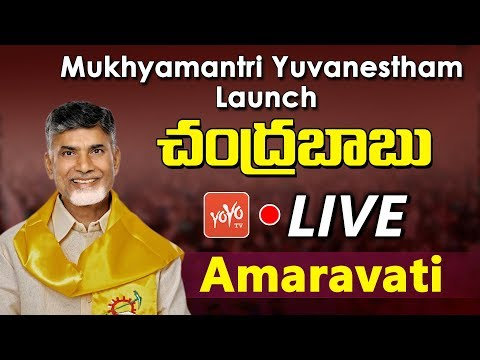 Chandrababu Naidu LIVE |  Launch of Mukhyamantri Yuvanestham at Amaravati | AP News | YOYO TV